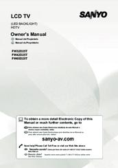 Sanyo FW32D25T Manuals