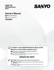 Sanyo FW32D06F Manuals