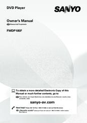 sanyo fwdp105f manuals rh manualslib com sanyo owners manual tv troubleshooting sanyo owners manual tv troubleshooting