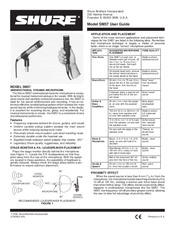 shure sm57 manuals rh manualslib com Shure SM56 Shure 515Sdx