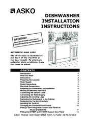 asko d1976cstm installation instructions manual pdf download rh manualslib com Instruction Manual Book Malibu Low Voltage Transformer Manual