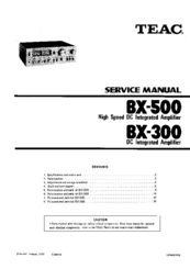 TEAC BX-500 SERVICE MANUAL Pdf Download