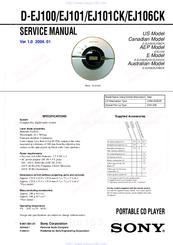 sony cd walkman d ej100 manuals rh manualslib com JVC KD AVX77 Manual Frigidaire Electrolux Refrigerator Manual