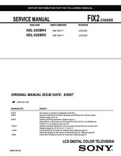 sony kdl 52xbr4 service manual pdf download rh manualslib com Cell Phone Operation Manuals JVC KD AVX77 Manual
