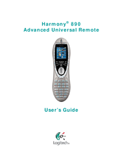 logitech harmony 890 manuals rh manualslib com logitech harmony 620 user manual logitech harmony 600 manual