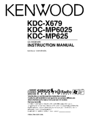 Kenwood KDCMP6025 Manuals