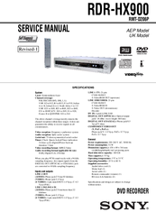 sony rdr hx900 manuals rh manualslib com Sony Handycam Manual Sony DVD Recorder User Manual