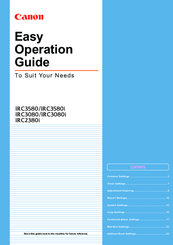 Canon IRC3580 Operation Manual