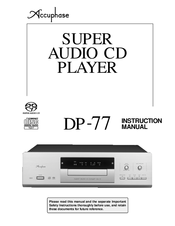 accuphase dp 77 manuals rh manualslib com Accuphase A50 Accuphase CD Player Review