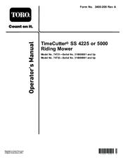 Toro Timecutter Ss 5000 Operator S Manual