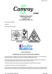 Camray 5 boiler manual.