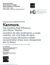 Kenmore 700 washer Manuals