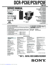 Sony Handycam DCR-PC6E Service Manual
