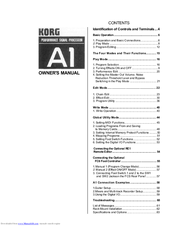 Korg A1 Owner's Manual
