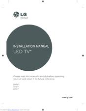 LG LW76 SERIES INSTALLATION MANUAL Pdf Download