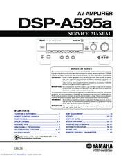 Yamaha DSP-A595a Service Manual