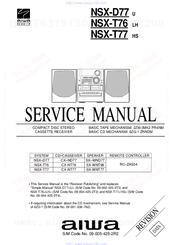 aiwa nsx t77 manuals rh manualslib com Aiwa Stereo System NSX D60 Aiwa Stereo System NSX D60