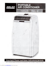 Arlec 7000btu portable air conditioner with timer and remote.