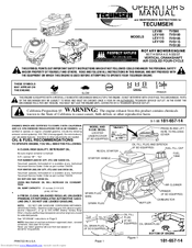 tecumseh tvs120 manuals rh manualslib com Tecumseh Lawn Mower Parts White Lawn Mower
