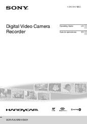 Sony DCR-SX21 Manuals
