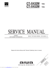 Aiwa CT-X432M Service Manual