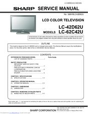 sharp lc60e69u manual