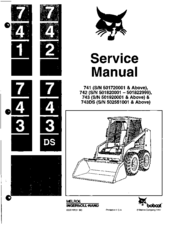 bobcat 743 manuals rh manualslib com 743 Bobcat Repair Manual Amazon Melroe Bobcat 743 Service Manual