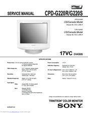 Sony Trinitron CPD-G220R Manuals