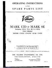 Villiers MARK 8E Manuals
