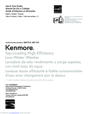 Kenmore 2801*010 Use & Care Manual