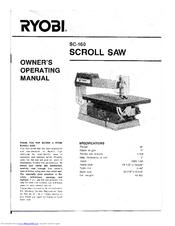 Ryobi sc 160 manuals ryobi sc 160 owners operating manual 12 pages scroll saw greentooth Choice Image