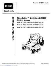 toro timecutter z4235 manuals rh manualslib com Toro TimeCutter 42 Voltage Regulator Location toro timecutter z4235 service manual