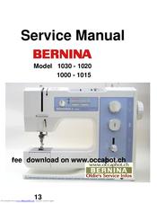 bernina 1030 service manual pdf download rh manualslib com bernina activa 220 repair manual bernina activa 220 service manual