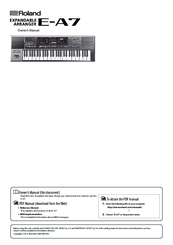 ROLAND E-A7 OWNER'S MANUAL Pdf Download