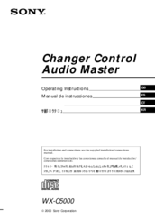 Sony WX-C5000 Operating Instructions Manual