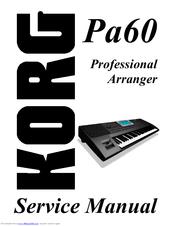 KORG PA60 SERVICE MANUAL Pdf Download