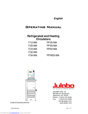 julabo f12 ma manuals rh manualslib com julabo f12-ma manual julabo f12 ed manual