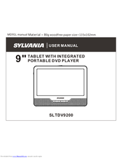 sylvania sltdv9200 manuals rh manualslib com Power Cord for Sylvania Tablet Sylvania Tablet Android 2.1