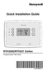 honeywell rth221 series manuals rh manualslib com Gutter Installation Guide Installation Guide