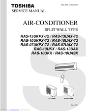 toshiba ras 13ukpx t2 manuals rh manualslib com toshiba air conditioner ras-137skv-e3 manual Sanyo Air Conditioners