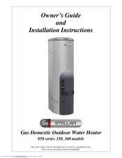 rheem stellar 850330 manuals rh manualslib com rheem service manual rheem water heater owners manual