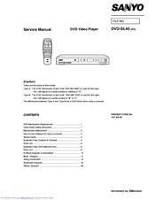 sanyo dvd sl40 manuals rh manualslib com sony dvd player manual sony dvd player manual