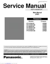 panasonic pt51hx41e 51 projection tv manuals rh manualslib com Panasonic Viera Manual Panasonic Plasma TV