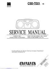 aiwa csd td21 manuals rh manualslib com Aiwa Exos-9 aiwa csd-td49 user manual