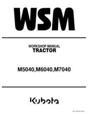 kubota m7040 manuals Kubota M7040 Tractor kubota m7040 workshop manual