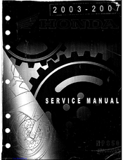 Honda 2003 NPS50 Ruckus Service Manual