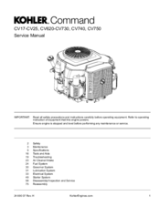 Kohler Command CV25 Manuals on