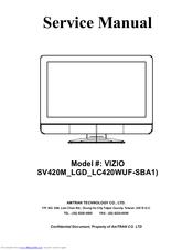 vizio sv420m 42 lcd tv manuals rh manualslib com vizio tv repair manual 70 inch e701i-a3 vizio lcd tv service manual