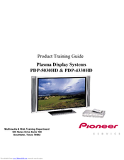 Pioneer PDP-4330HD Product Training Manual