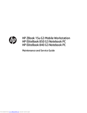 Hp EliteBook 840 G3 Manuals